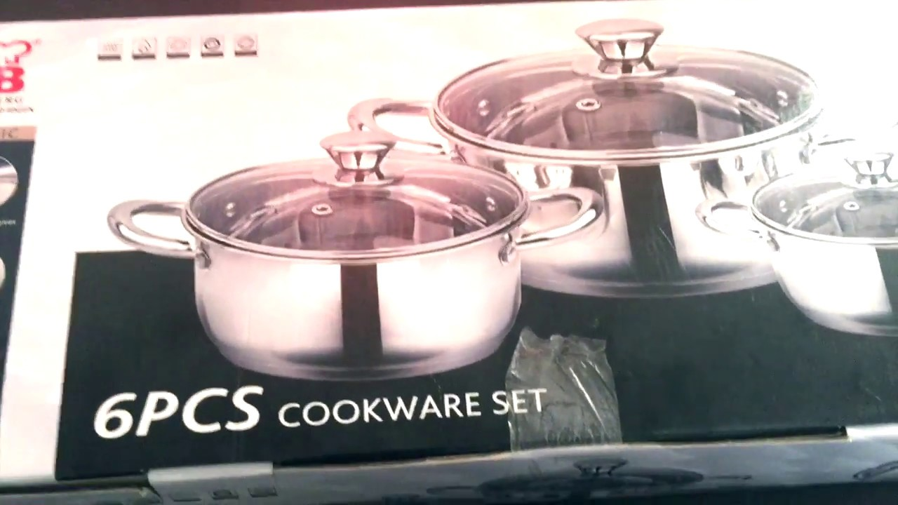 Wellberg 6 Pcs Stainless Steel Cookware Set For Rs 1599 Mrp 3499