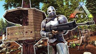 BUILDING A TREEHOUSE!! (Ark Ragnarok)