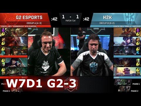 G2 eSports vs H2K Gaming   Game 3 S7 EU LCS Summer 2017 Week 7 Day 1   G2 vs H2K G3 W7D1