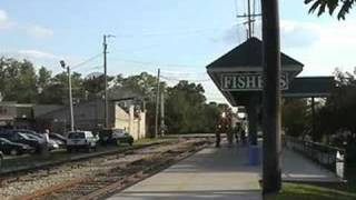 Indiana State Fair Train arriving at Fishers Station