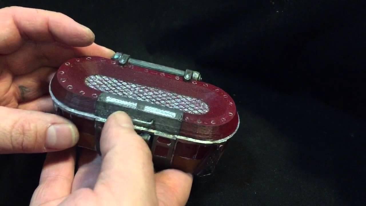 Borderlands loot chest custom engagement ring box by paul for Custom engagement ring box