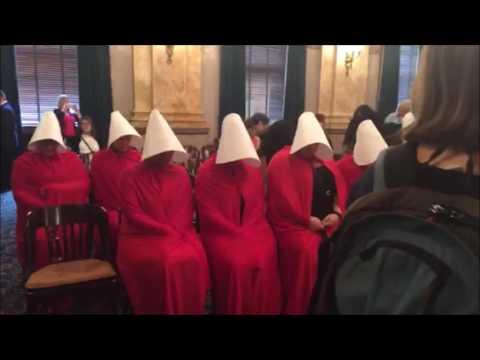 Women Dressed as Handmaids Protest Ohio Abortion Bill