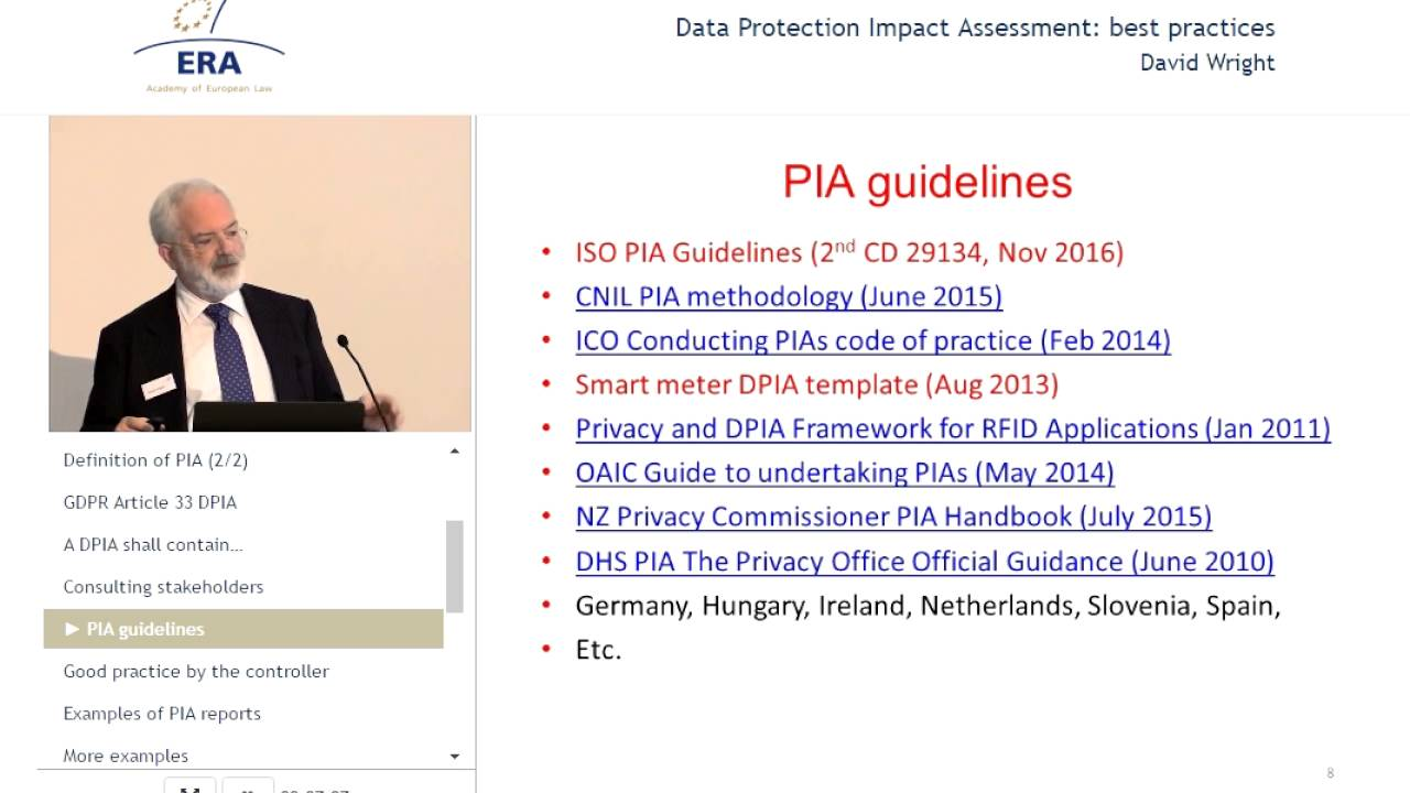 Data Protection Impact Assessment: Best Practices  Impact Assessment Template