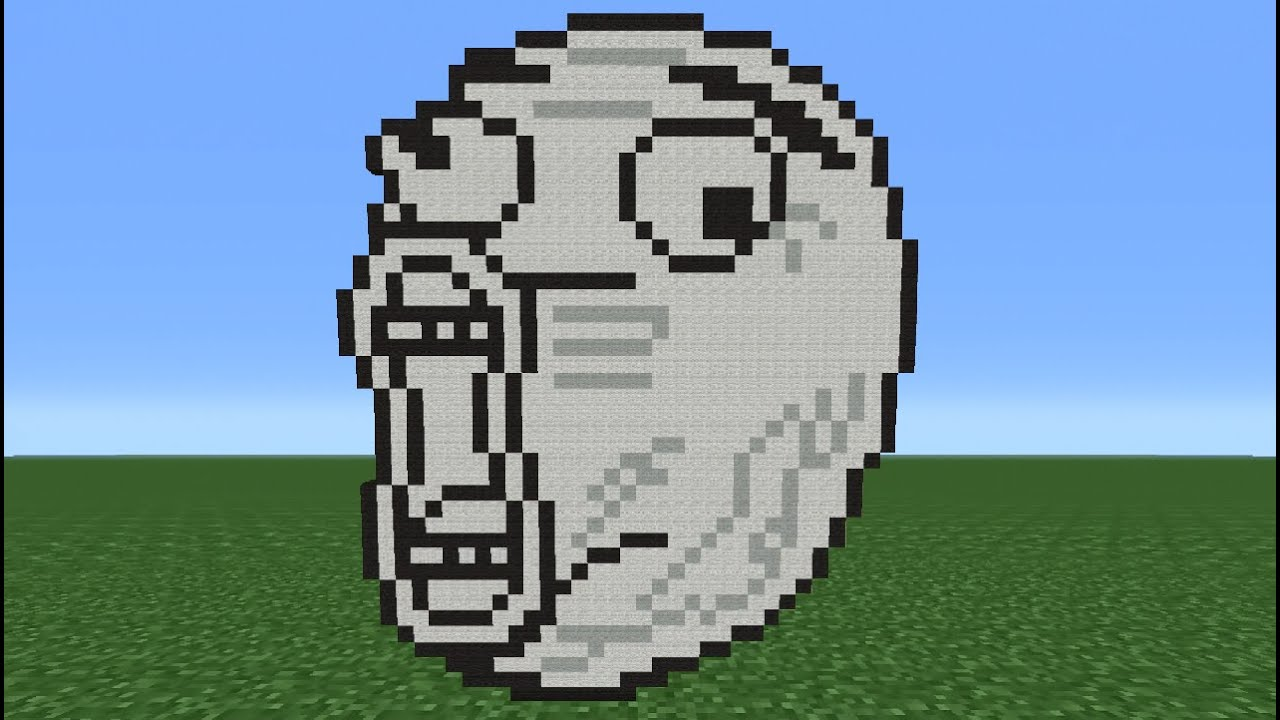 Minecraft Tutorial How To Make A LOL Face Meme YouTube