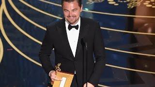видео Первый Оскар Леонардо Ди Каприо получил в 2016.