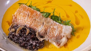 Кухня которую я проповедую. Мой взгляд в этом рецепте. Окунь с рисом и супер соусом. Черная пятница