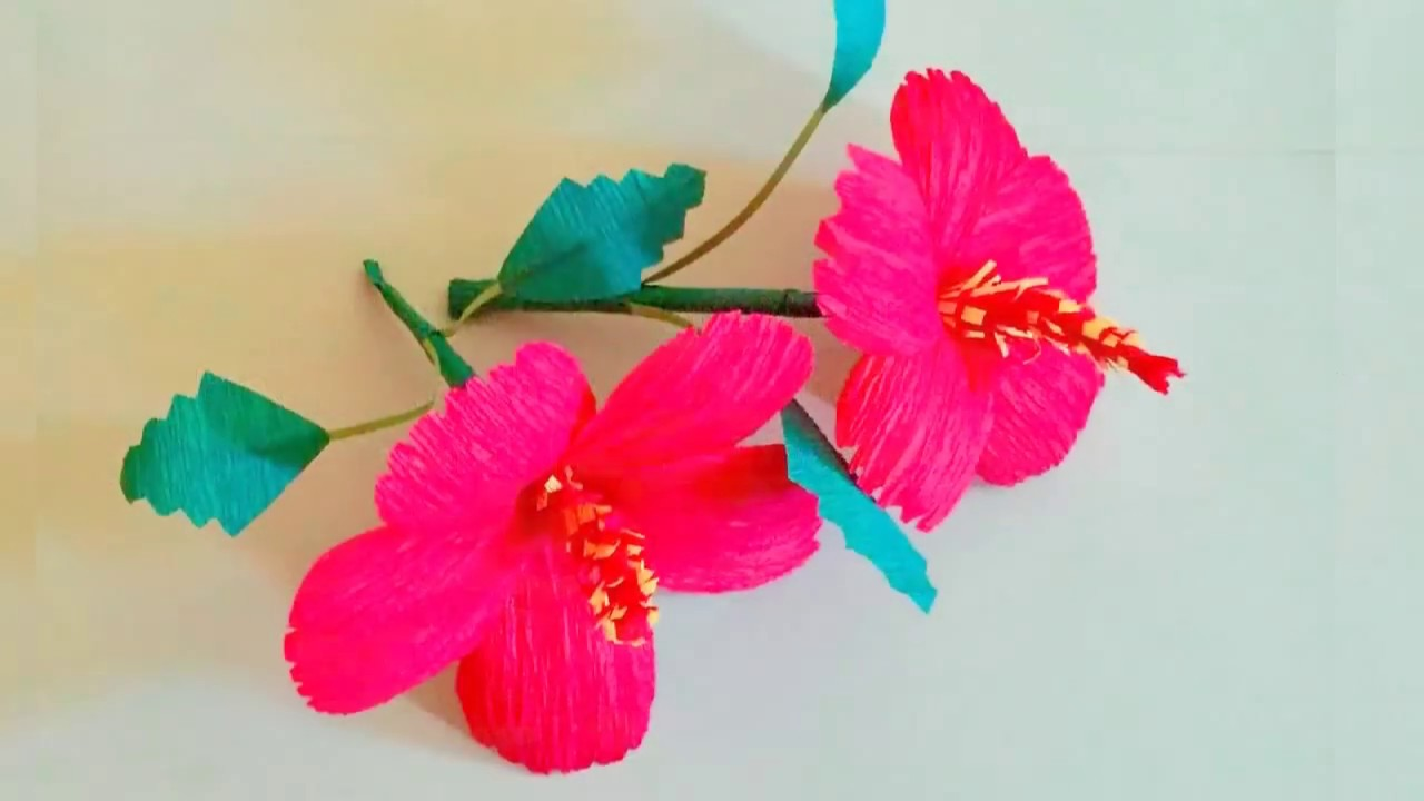 Paper Craft Flowers How To Make