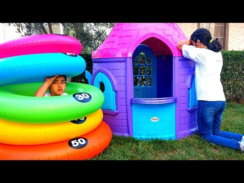 Esma and Asya Hide and Seek funny for kids video