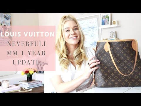 LOUIS VUITTON NEVERFULL MM ONE YEAR UPDATE   WEAR & TEAR   REVIEW