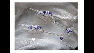 Свадебные бокалы своими руками с лепкой/свадебные бокалы мастер класс/Wedding glasses by own hands