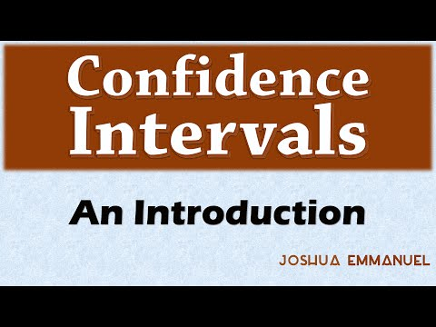 Confidence Intervals - Introduction