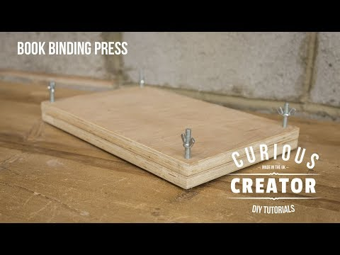 #29 Book Binding Press Machine Bookbinding - DIY Curious Creator