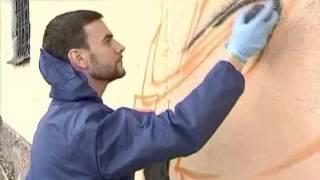Уличным художникам Луганска преподал урок всемирно известный мастер граффити