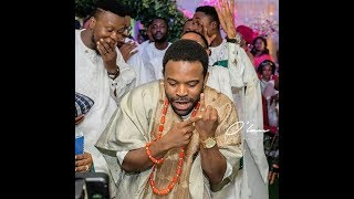 Nollywood Actor, Gabriel Afolayan Dance With His Gorgeous Wife At Their Traditional Wedding