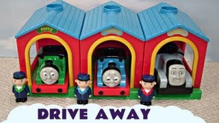 Kids Toy Train Thomas & Friends Set Thomas The Train Drive Away Talking Spencer Percy & Thomas
