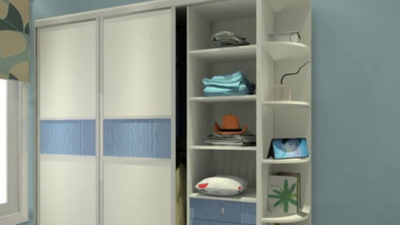 Wall wardrobe design for bedroom at home