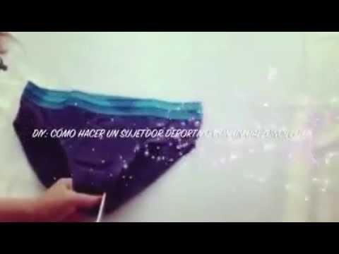 bf71f5971 كيف تصنعين حمالة صدر من ملابس رجال داخلية (رائعة) - YouTube
