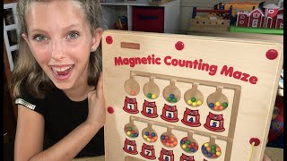 Learn English Numbers! Gumball Puzzle with Sign Post Kids!