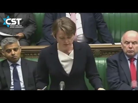 Yvette Cooper & Theresa May discuss counter-terror measures after Paris attacks in January 2015