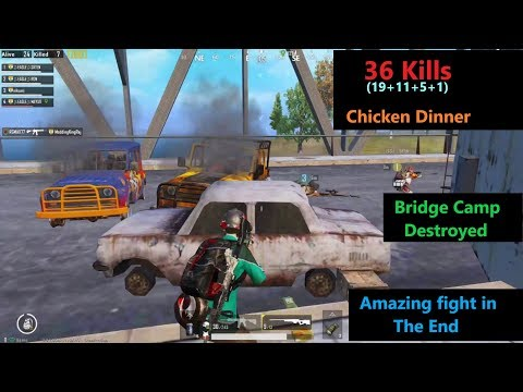 [Hindi] PUBG Mobile | Bridge Camp Fight & Amazing Chicken Dinner