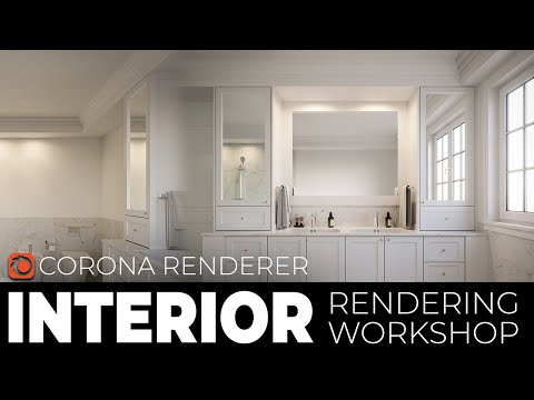 3ds Max 2020 Corona Render  Interior Tutorial   Lighting, Material And Post Production