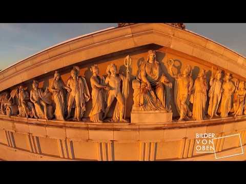 Walhalla - Aerial Video der Ruhmes- und Ehrenhalle an der Donau- Luftbildaufnahme