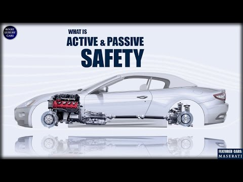 What is Active and Passive Safety technology features in cars? MASERATI vehicles shown.