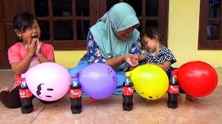 Surprise KINDER JOY EGG Dalam Balon Karakter COCA COLA Finger Family Song