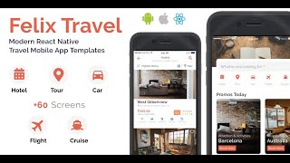 Gambar cover Felix Travel - React Native UI Kit for Booking System (Hotel, Tour, Car Rental, Flight, Cruise)