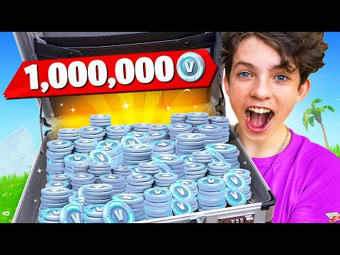 I Surprised My Little Brother with One MILLION VBucks!
