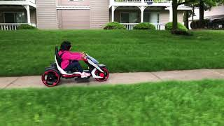 Kids racing car riding
