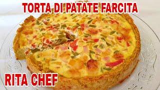 Torta Rustica Di Patate Con Prosciutto Cotto Peperoni Ed Emmental Di Rita Chef.