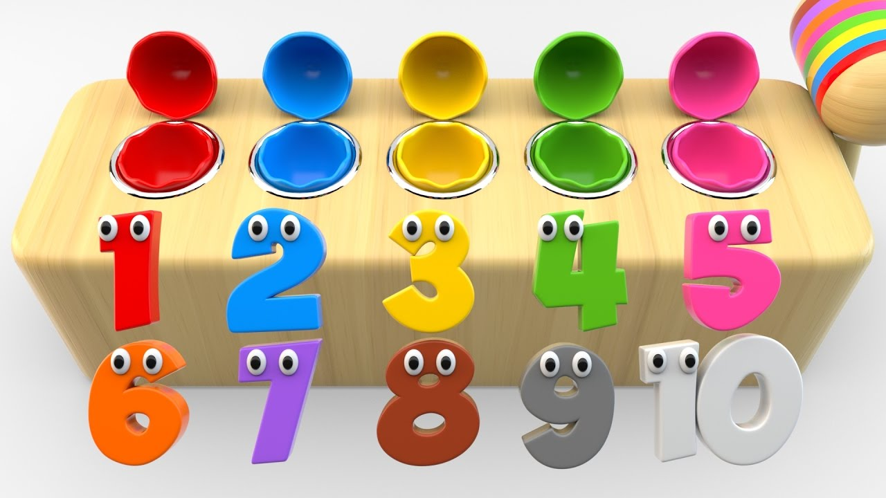 Learn Numbers With Wooden Hammer Surprise Eggs Toys