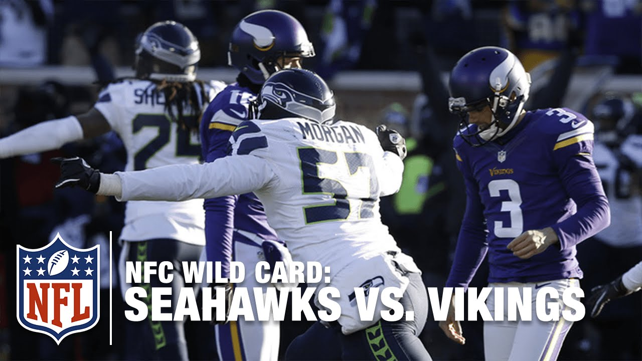 new products bf404 8bd47 Not Even Close! Blair Walsh Misses Game-Winning FG! | Seahawks vs. Vikings  | NFL