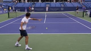 Roger Federer Forehand and Backhand 10 - 2013 Cincinnati Open
