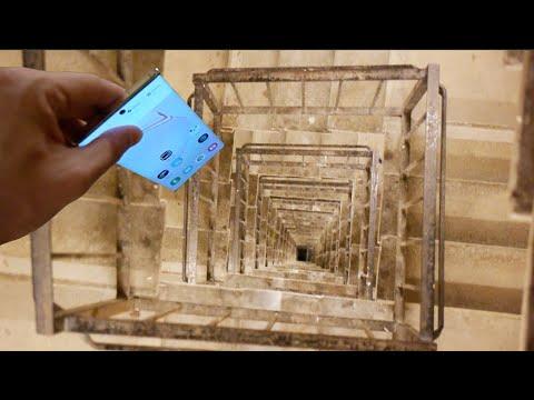 Dropping A Samsung Galaxy Note 10 Down Spiral Staircase 300 Feet | 10 Ft Spiral Staircase | Handrail | 36 Tall | Arke Phoenix | Stair Kit | Arke Enduro