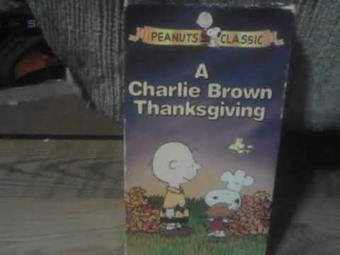 A Charlie Brown Thanksgiving 1994 VHS Review(Happy Thanksgiving)