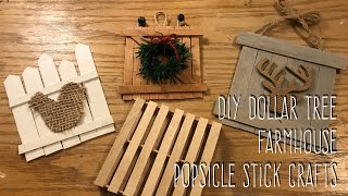 DIY Dollar Tree  Farmhouse  Popsicle Stick Crafts