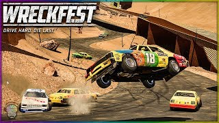 NASCAR CANYON RACING! | Wreckfest | NASCAR Legends Mod