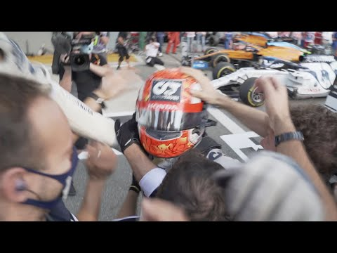 POST-RACE CELEBRATIONS AT MONZA | GASLY WINS | Powered By Honda