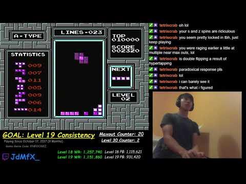 NES TETRIS - Level 31 (Game Genie) - 8/1/2018