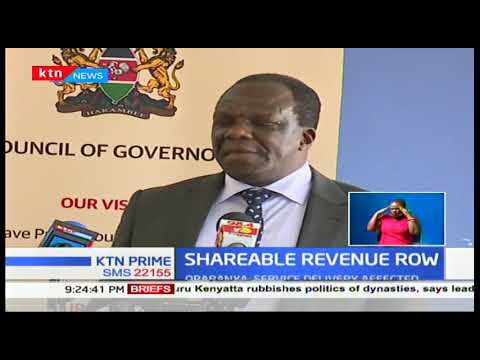 Council of governors has called on parliament to urgently resolve the dispute on the revenue bill