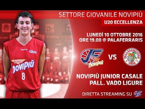 [Under 20 Eccellenza] Novipiù Casale - Pallacanestro Vado LIVE