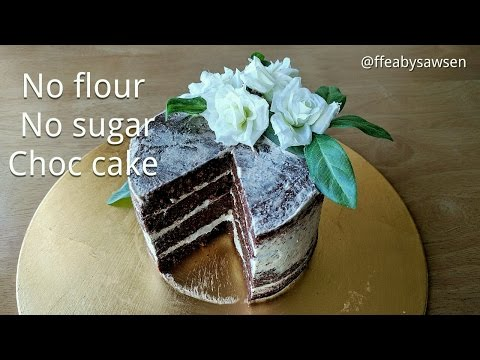 Diabetic chocolate cake recipe - flourless, no sugar, low carb