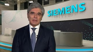 Feb.03 -- siemens ceo joe kaeser, in his last interview with bloomberg before handing over the reins to roland busch, discusses earnings, impact of c...