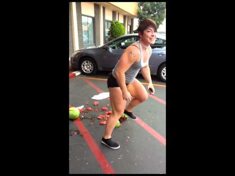 kortney olson watermelon thigh squeeze practice
