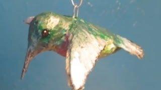 Make a Hummingbird Ornament with Paper Mache Clay