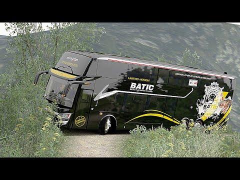 Begini Kalo BUS ScaniaTronton Di Jalur Sempit Pegunungan - BATIC Euro Truck Simulator 2