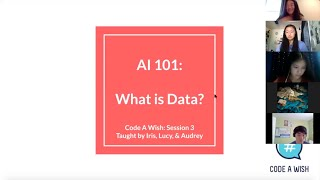 """AI 101"" #3 - What is Data? by Code a Wish"