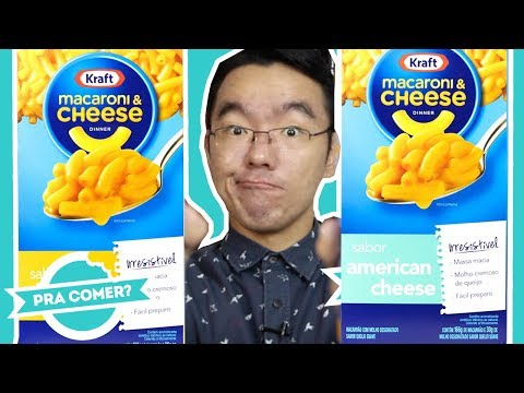 MACARONI & CHEESE Cheddar e American Cheese da Kraft | PraComer? |#PF10anos // PratoFundo